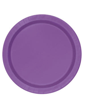 סט 8 צלחות קינוח סגולות - צבעים של קווי היסוד