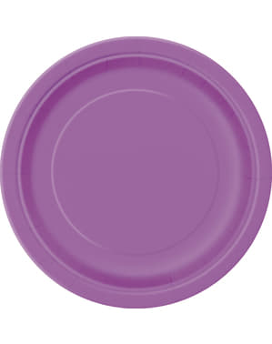 20 platos pequeños morados (18 cm) - Línea Colores Básicos