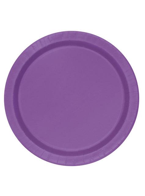 16 platos morado (23 cm) - Línea Colores Básicos
