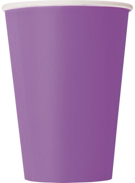 10 gobelets couleur violet - Gamme couleur unie
