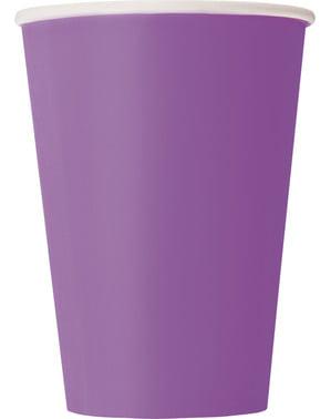 Zestaw 10 fioletowych kubków - Linia kolorów podstawowych