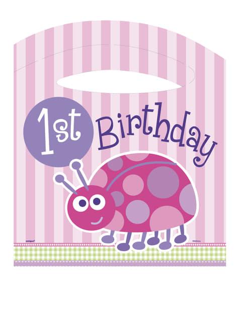 Set de 1º cumpleaños mariquita rosa - para tus fiestas