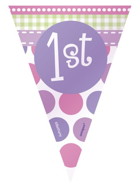 Set de 1º cumpleaños mariquita rosa - barato