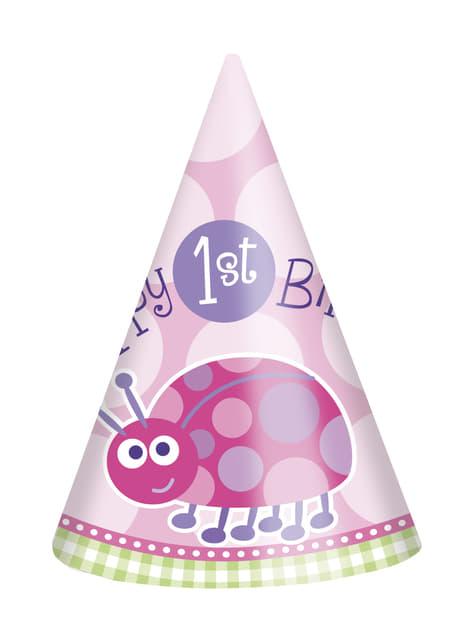 Set de 1º cumpleaños mariquita rosa - comprar