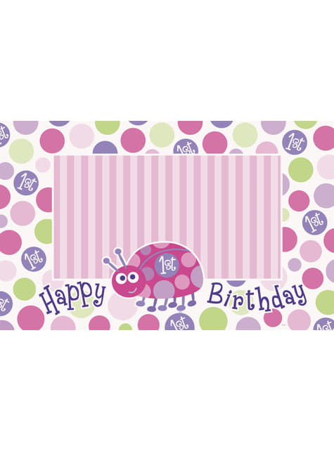 1. Geburtstag Marienkäfer Set rosa