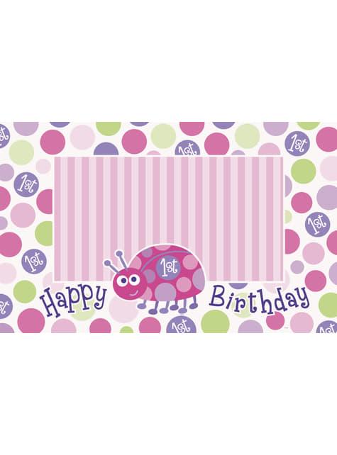 Set de 1º cumpleaños mariquita rosa - para niños y adultos