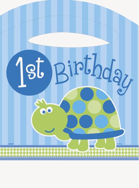 Set de 1º cumpleaños tortuga azul - para tus fiestas