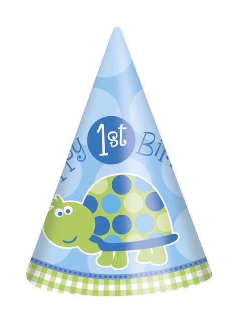 Blå skildadde 1. fødselsdags sæt