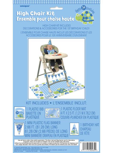 Set de 1º cumpleaños tortuga azul - para niños y adultos