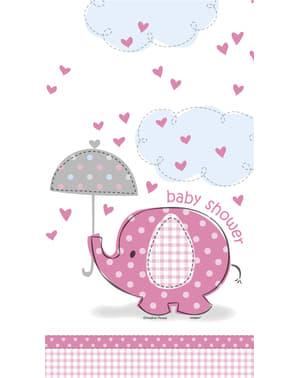 Růžový ubrus - Umbrellaphants Pink