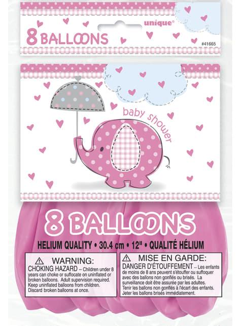 Set of 8 pink balloons - Umbrellaphants Pink