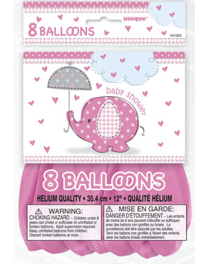 Set 8 belon merah jambu - Umbrellaphants Pink