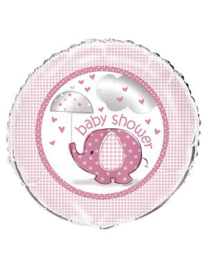 Foliový balonek růžový - Umbrellaphants Pink