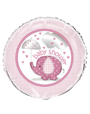 Pink foil balloo (45,72 cm) - Umbrellaphants Pink
