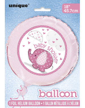 Ballon en aluminium rose - Umbrellaphants Pink