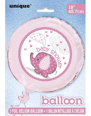 Rúžový fóliový balón- Umbrellaphants Blue