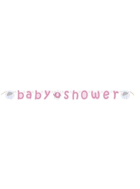 Guirnalda Baby Shower rosa - Umbrellaphants Pink