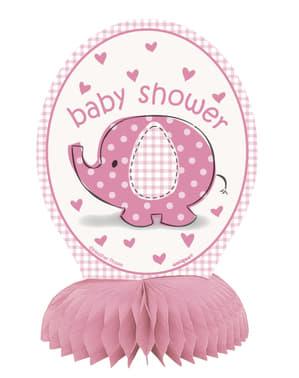 4 kpl pinkkiä pöytäkoristetta - Umbrellaphants Pink