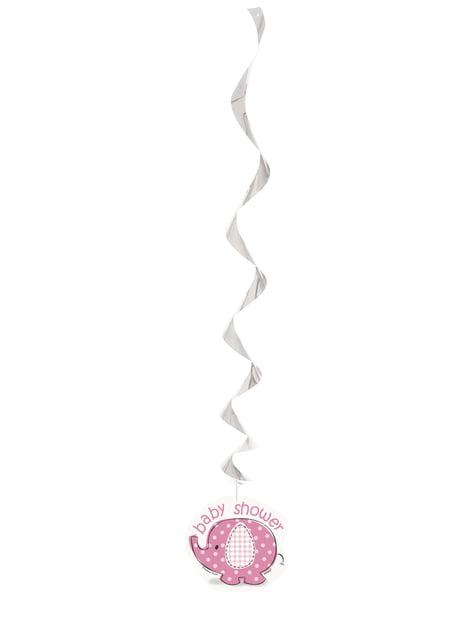 Conjunto de 3 decorações de pendurar cor-de-rosa - Umbrellaphants Pink