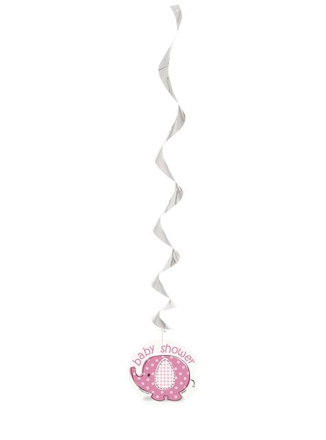 3 pink hanging decorations - Umbrellaphants Pink