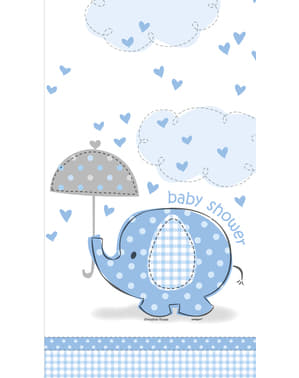 Mantel azul -Umbrellaphants Blue