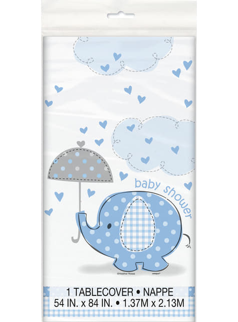 Mantel azul -Umbrellaphants Blue