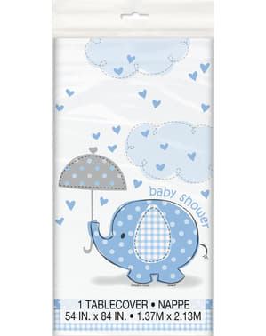 Tischdecke blau - Umbrellaphants Blue