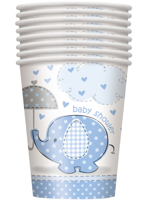 8 vasos azules - Umbrellaphants Blue