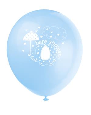 8 db kék léggömb (30 cm) - Umbrellaphants Blue