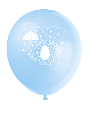 8 синіх кульок (30см.) - Umbrellaphants Blue
