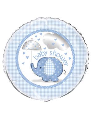 Blauwe Folieballon - Umbrellaphants Blue