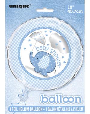 Повітряна кулька з блакитної фольги (45,72 см.) - Сині парасольки