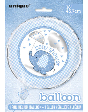 Син балон от фолио (45,72cm) - Umbrellaphants Blue