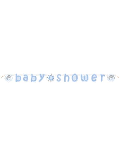 Baby Shower Girlande blau - Umbrellaphants Blue