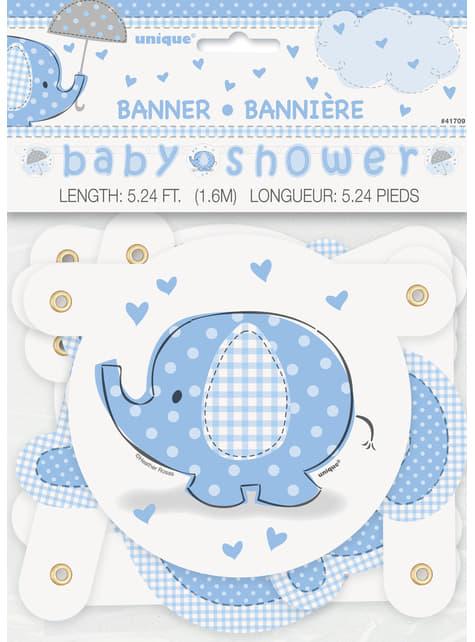 Guirnalda Baby Shower azul - Umbrellaphants Blue - para tus fiestas