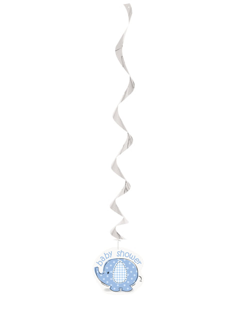 3 decoraciones colgantes azules - Umbrellaphants Blue - para tus fiestas