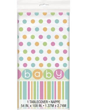 מפת שולחן - מסיבת לידה לתינוקות בצבע פסטל