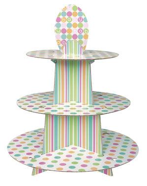 Cupcake tarjotin - Pastel Baby Shower