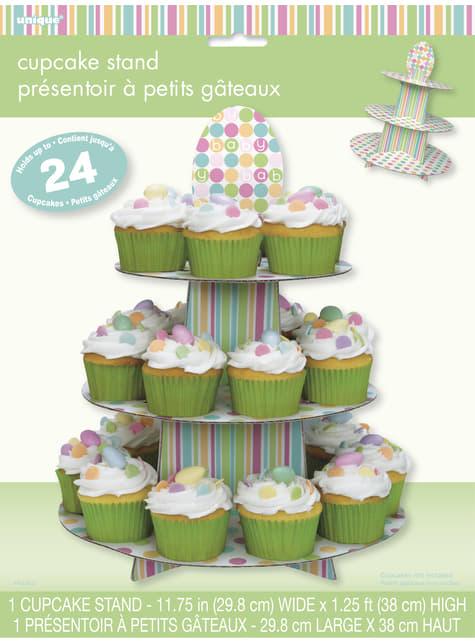 Soporte para cupcakes - Pastel Baby Shower - para tus fiestas