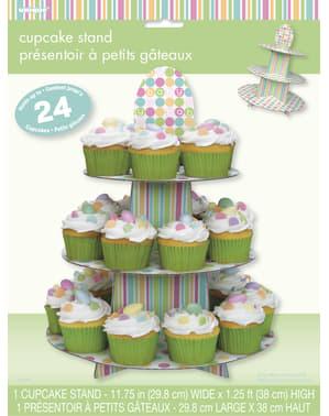 Soporte para cupcakes - Pastel Baby Shower