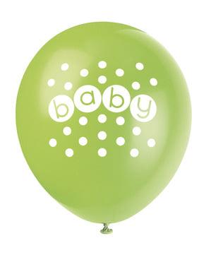 Sett med 8 ballonger - Pastell Baby Shower