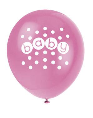 Sæt af 8 ballonner - Pastel Baby Shower