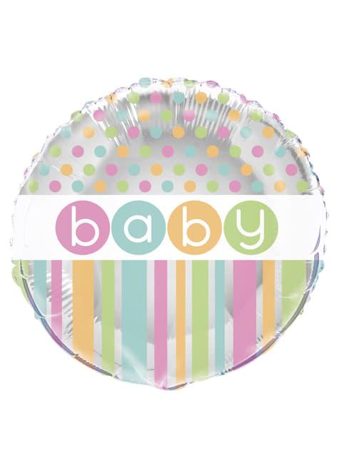 Balão Foil - Pastel Baby Shower