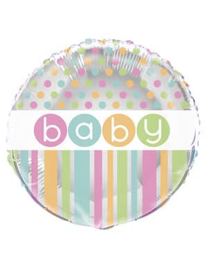 Metallic Luftballon - Pastel Baby Shower