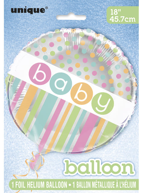 Globo de foil (45,72cm) - Pastel Baby Shower