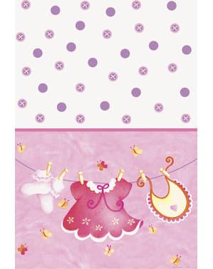 It's a girl terítő - Pink Clothesline Baby Shower