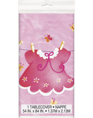 It's a girl tablecloth - Clothesline Baby Shower