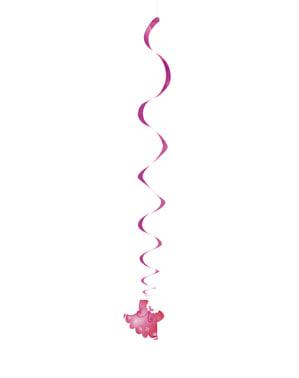Sada 3 závěsných dekorací Je to holčičika - Clothesline Baby Shower