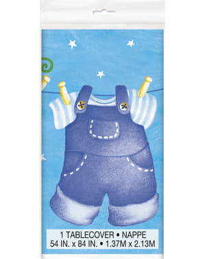 Скатертина «It's a boy» - Blue Clothesline Baby Shower