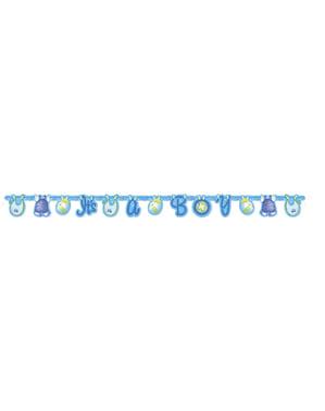 "Гирлянда ""It's a boy!"" – Blue Clothesline Baby Shower"